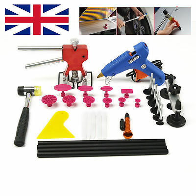 PDR Tap Down Glue Tools Paintless Hail Repair Dent Puller Kits Red Dent Lifter