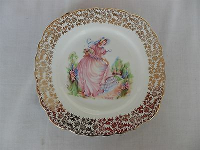 "Imperial Bone China Crinoline Lady ""Pinkie"" 22 KT.Gold Trim - SMALL PLATE (6)"