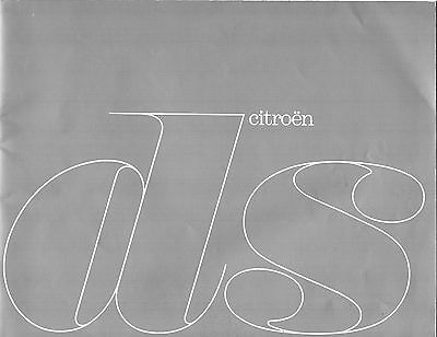 Brochure catalogue depliant CITROEN DS 1962