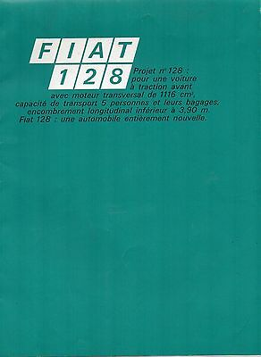 Brochure FIAT 128 1969  - catalogue - prospectus