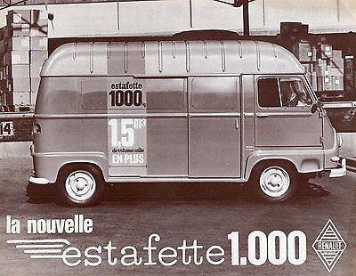 Brochure RENAULT ESTAFETTE 1000 Kg - catalogue - prospectus