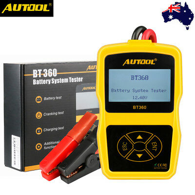 AUTOOL BT360 12V Car Battery Analyzer Tester Lead Acid AGM GEL Diagnostic Tool
