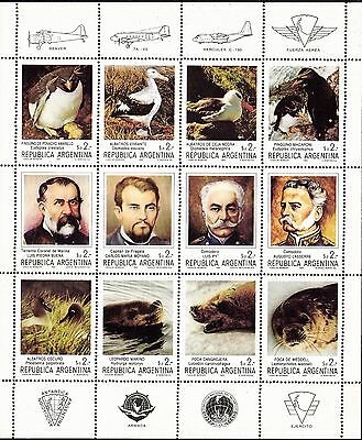 Argentina 1983 Fauna and Pioneers Sheetlet MUH