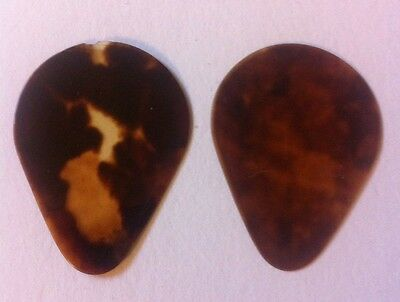 Bluegrass Guitar Picks Vintage 1960s 2Natural Shell Rigid High Action AMAZING
