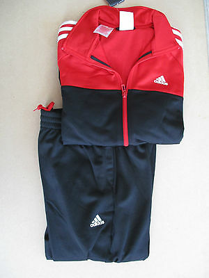 adidas boys girls youths red & black PES tracksuit 13 - 14 years