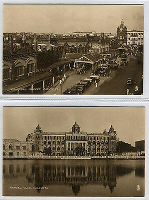 Two Early Photogravure Postcards Of Calcutta
