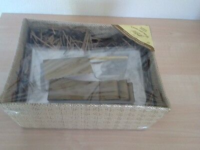 """Gorgeous Gift Basket -Cellophane Ribbon Gift Card &Packaging 10""""x8"""" New Unopened"""