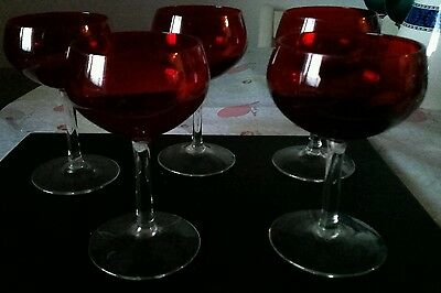 Vintage ruby red glasses