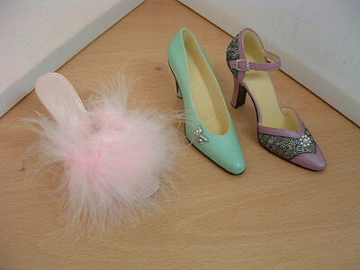 Vintage Collectable Shoes X 3 Great Display