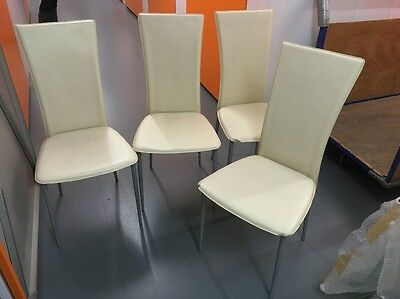 Set Of Four White chairs