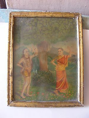 A original print of Holy man with lady.