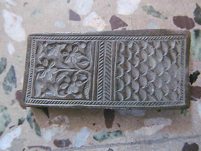 Old Multidesign Tribal Indian  Engraved Dye Mold Seal Stamp 9