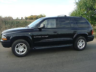 01 Dodge Durango Rt 7 Seater 4Wd Lhd Black Automatic Petrol Front & Rear Aircon