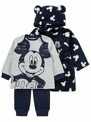 Baby Boys Disney Mickey Mouse 3 Piece Pyjama Set AGES 3-24 MONTHS