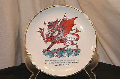 Prince Of Wales Commemorative Investiture Plate 1969 Caernarvon Castle