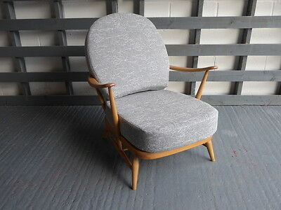 Seat Cushion & Cover Only. Ercol 203/252 Chair. Mazie Grey