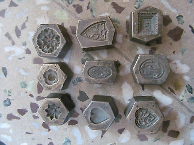 Lot Multi design Tribal Indian  Pendant Engraved Dye Mold Seal Stamp 1