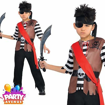Ahoy Captain Boys Pirate World Book Day Fancy Dress Costume Childrens