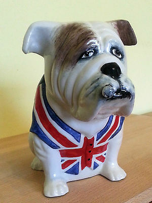 British Bulldog. Porcelain Model From Manor Collectables, Staffordshire.