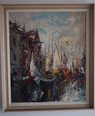 Wonderful painting The HARBOR by Tosani
