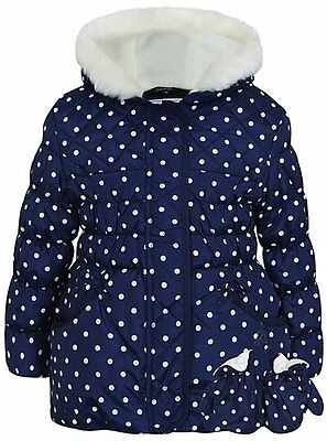 Girls Dotty Padded Coat with Mittens Age's 1.5-6 Years