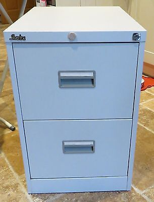 SilverLine - 2 Drawer Filing Cabinet - White - Good Condition