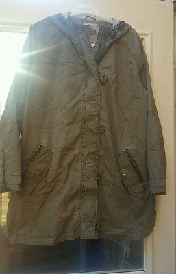 Girls Karki green coat 14 years Brand new with tags