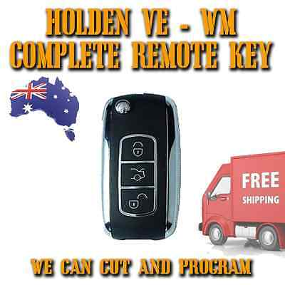 Holden Commodore Statesman - VE - WM COMPLETE Remote Key - Chrome Flip Key - NEW