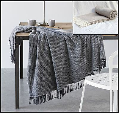 Francis Faux Wool Super Soft Spots Warm Throw Large Bed Blanket With Tassels