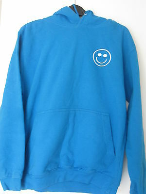 """BLUE HOODED TOP BY """"JUST HOODIES BY AWDis"""" - SIZE S"""
