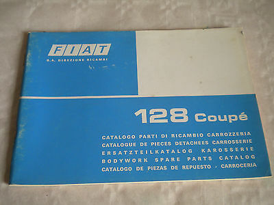 Vintage original factory body parts catalogue Fiat 128 Coupé 1975 1st edition