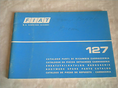 Vintage original factory body parts catalogue Fiat 127 1975 1st edition