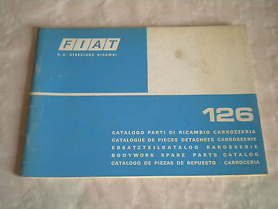 Vintage original factory Body parts catalogue  Fiat 126  1975