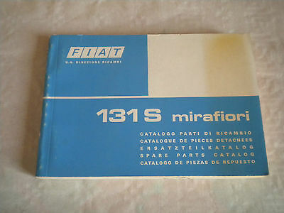 Vintage original factory parts catalogue Fiat 131S Mirafiori 1975 1st ed