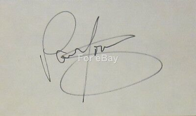 Paul Young Signed Autograph