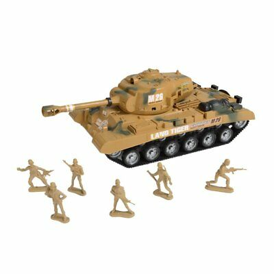 """""""Combat Mission"""" Friction Powered Army Tank & Soldiers Military Playset"""