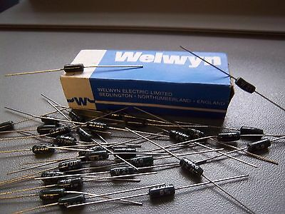 2 x W21 Series Power Resistors 3 Watt Wire Wound by Welwyn. Vitreous Enamel, Ohm