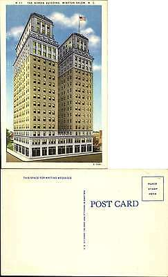 Nissen Building Winston-Salem North Carolina linen 1940s
