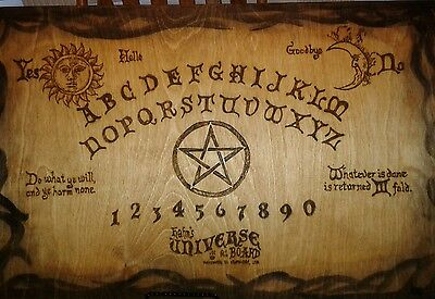 """Large 24"""" x 15"""" Antique style Witch Handmade Wooden Ouija Board/Spirit Board"""