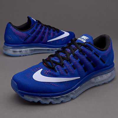 Nike Air Max 2016 Mens Trainers Blue Running Gym size UK 10.5, EUR 45.5