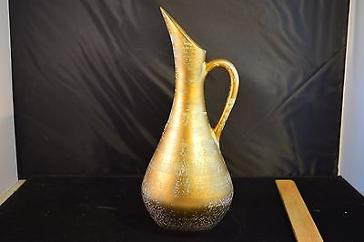 Vintage Stangl Pottery Antique Gold EWER PITCHER #4055 WITH STICKER