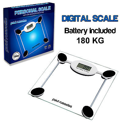 180 Kg Digital Scale Lcd Bathroom Weighing Body Electronic Glass Kg Lb Clear