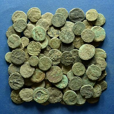 Lot of 90 Uncleaned Roman Imperial Bronze Coins
