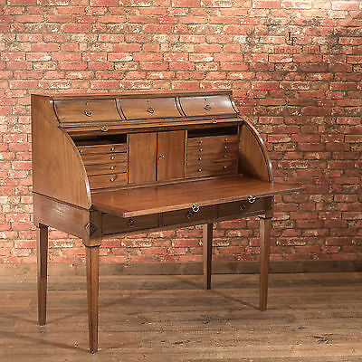 Antique Roll Top Desk, George III Mahogany Writing Table c.1810