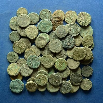 Lot of 70 Uncleaned Roman Imperial Bronze Coins