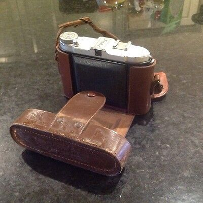 Old 35mm German (I think) camera in leather case