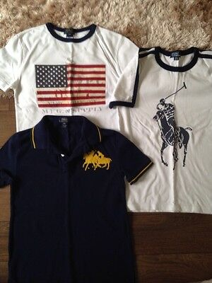 Boys Genuine Ralph Lauren T Shirts Age 8 X3