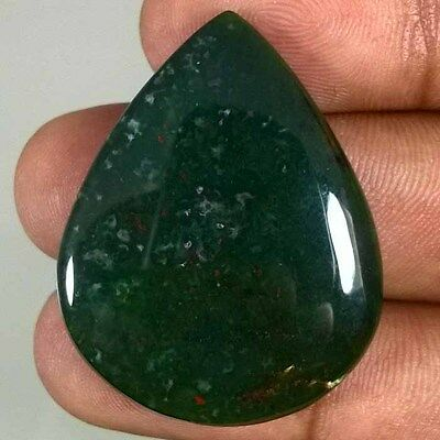 39.30 Cts. 100% NATURAL BLOOD STONE PEAR CABOCHON GEMSTONE BDS-34