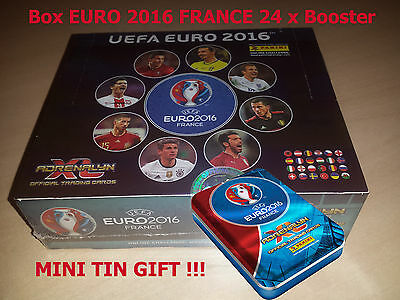 Box EURO 2016 FRANCE Panini Adrenalyn XL 24 x Booster + !!! MINI TIN GIFT !!!