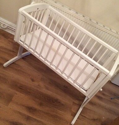 Mothercare White Swinging Crib With Airflow Mattress